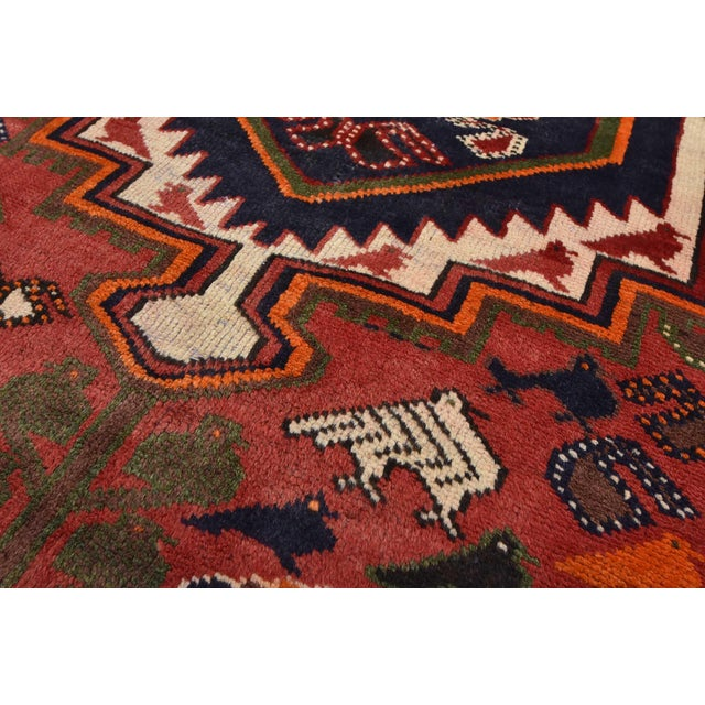 1980s Vintage Persian Luri Rug- 4′1″ × 7′5″ For Sale - Image 5 of 13