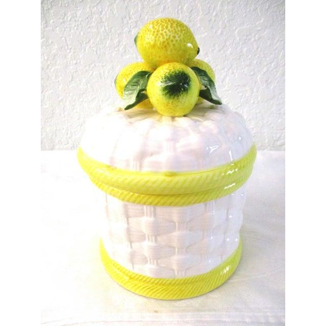 1980s Vintage Ceramic Lemon Canister For Sale In West Palm - Image 6 of 6