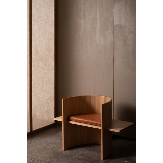 Campagna (| Sit Chair in White Oak For Sale In New York - Image 6 of 6