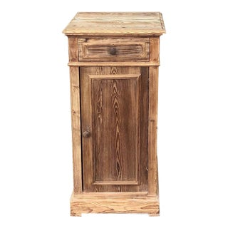 19th Century Country French Pine Nightstand For Sale