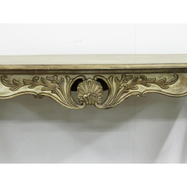 Louis XV Style Carved Wood Console Table For Sale - Image 4 of 7