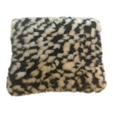 Image of Contemporary Black and White Fur Pillow - 12ʺW × 4ʺD × 10.5ʺH For Sale