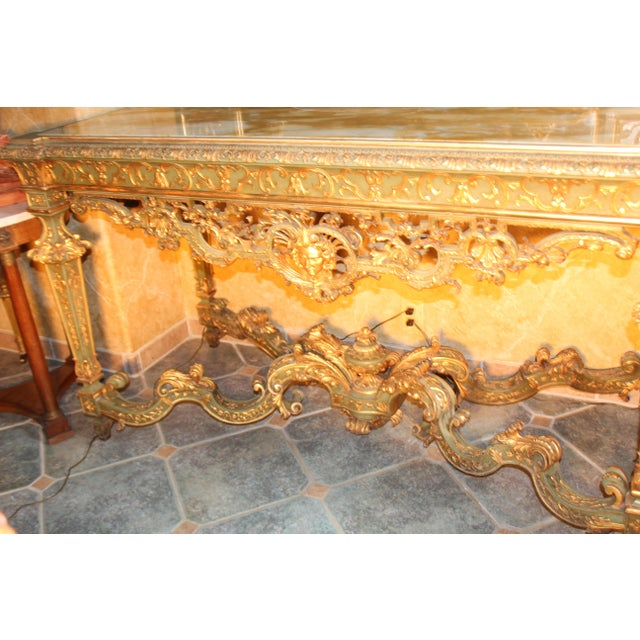 Late 19th Century Antique French Console Table For Sale In San Diego - Image 6 of 12