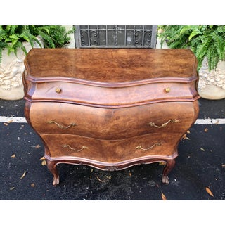 Pair of Italian Oyster Laburnum Walnut Commode Night Stand End Table Preview