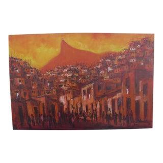 Impressionistic Rio De Janeiro Cityscape For Sale