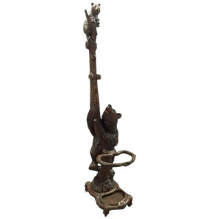 Black Forest Carved Bear Hall Rack