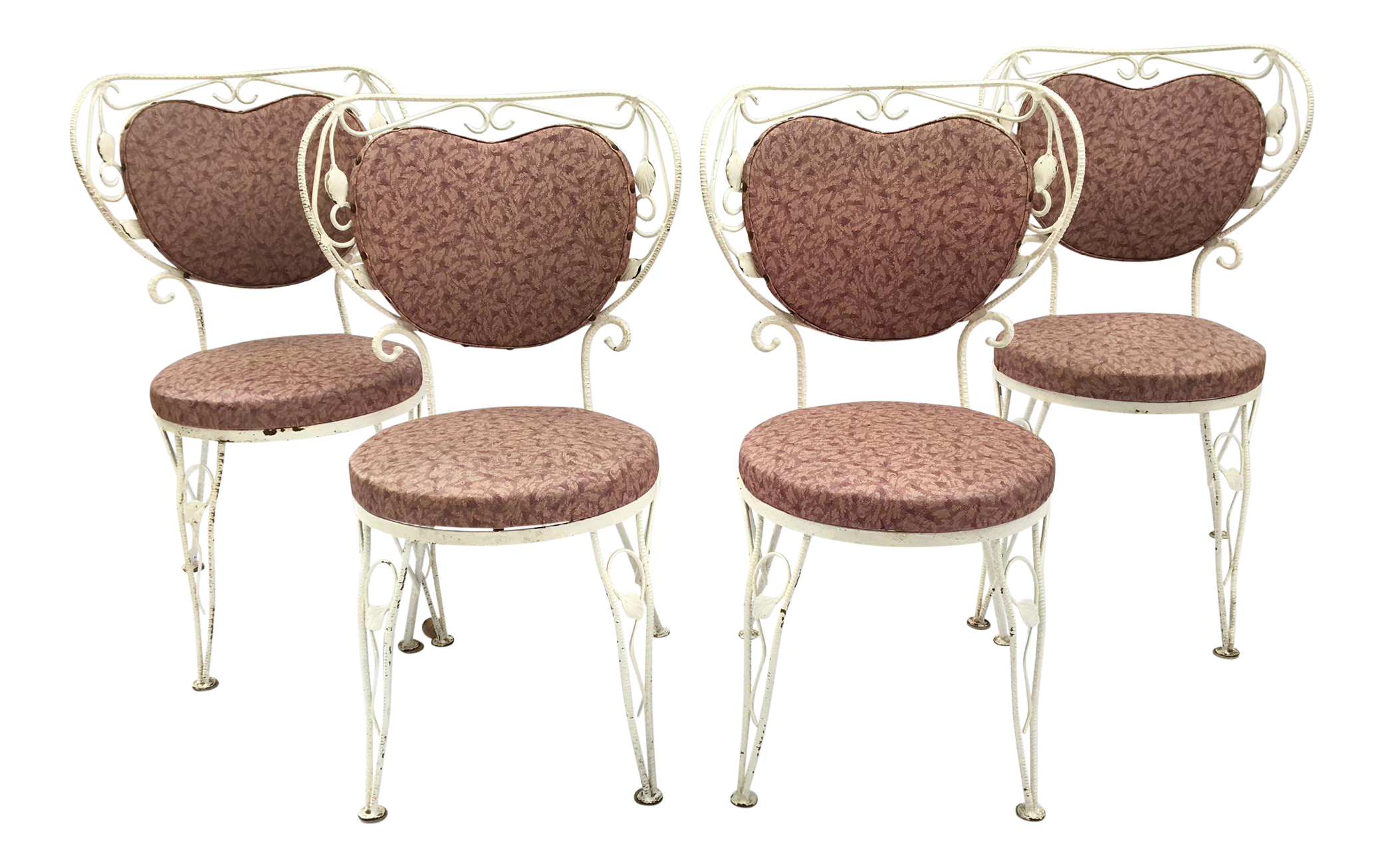Heart Shaped French Iron Bistro Chairs   Set Of 4