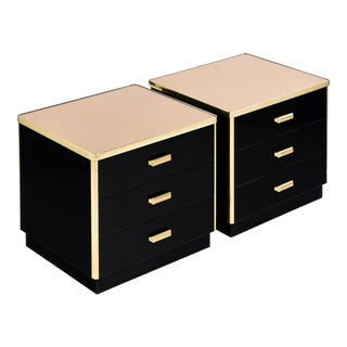 French Mid-Century Modern Lacquered Side Tables
