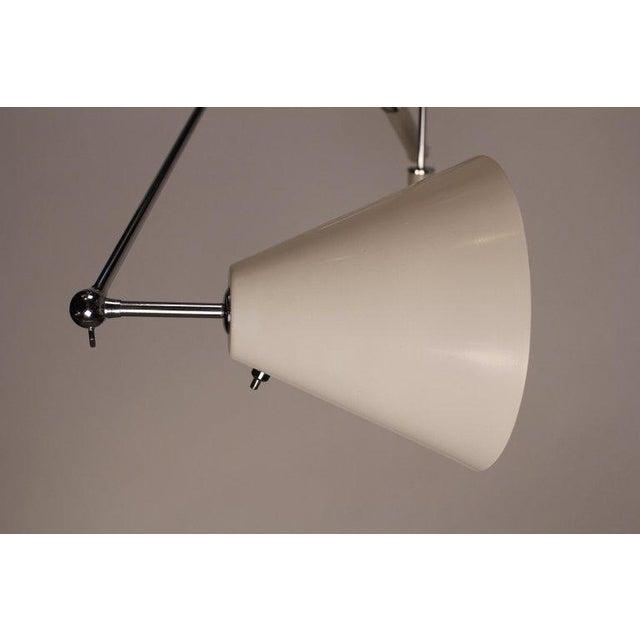 1950s Vintage Polished Nickel Arredoluce Monza Triennale Tripod Base Floor Lamp For Sale In Dallas - Image 6 of 10