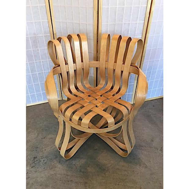 Mid-Century Modern Frank Gehry for Knoll Modern Cross Check Chair For Sale - Image 3 of 11