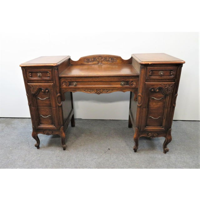 Louis XV Style Carved Oak Vanity For Sale - Image 11 of 11