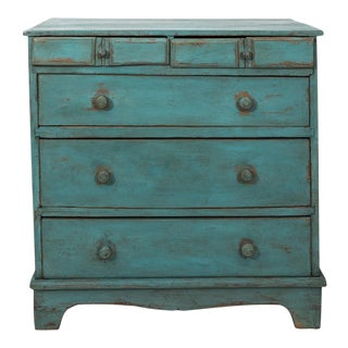 Blue Painted Dresser For Sale