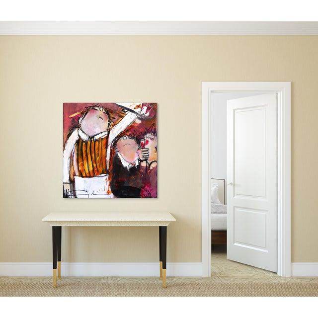 "Black ""One More Wine"" Original Artwork by Gerdine Duijsens For Sale - Image 8 of 9"