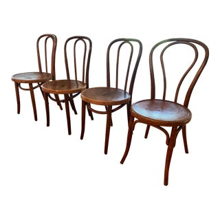 Antique Mundus Thonet Bentwood Chairs - Set of 4 For Sale