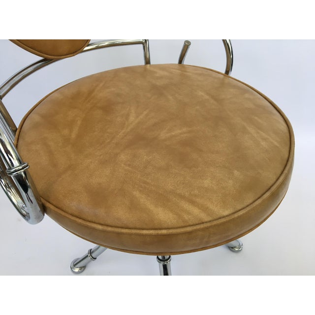 Mid century hollywood regency chrome bamboo bistro dining for Mid century bistro table
