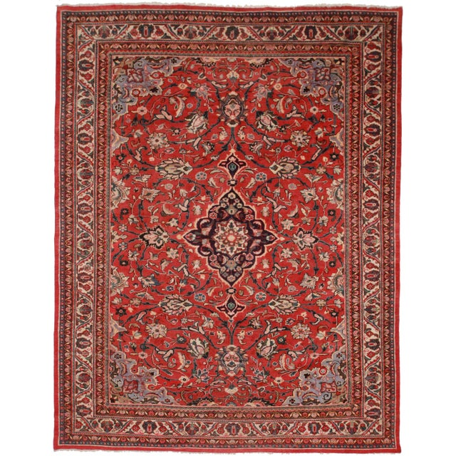 RugsinDallas Hand-Knotted Persian Mahal Rug - 9′7″ × 12′8″ For Sale