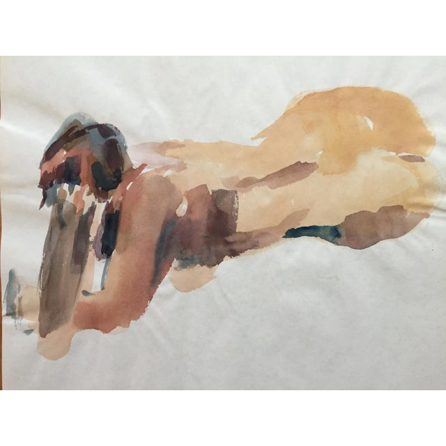 1970's Expressionist Watercolor, Female Nude Study - Image 2 of 4