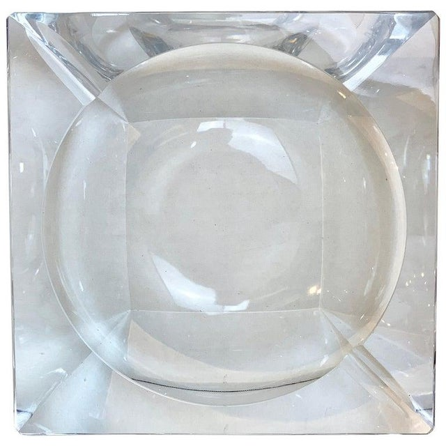 French Modern Crystal Cigar Ashtray For Sale - Image 12 of 12