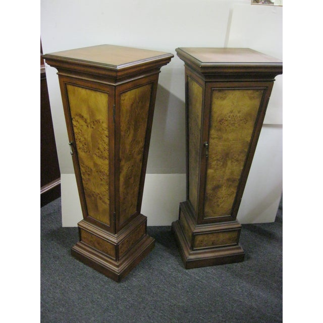Brown Pedestal Storage Cabinets- A Pair - Image 2 of 10