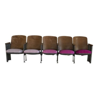 Ombre Pink 1940s Theater Seats For Sale