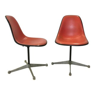 Eames for Herman Miller Swivel Chairs With Vinyl Covers For Sale