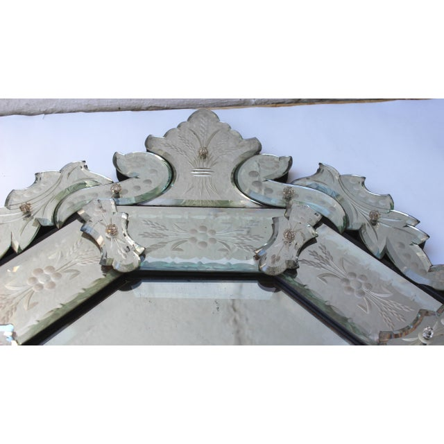 Venetian Style Glass Mirror For Sale - Image 10 of 12