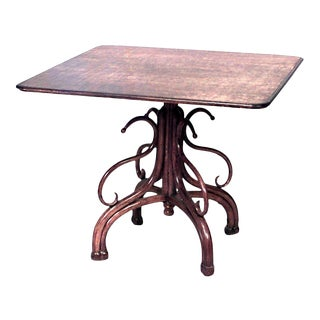 Bentwood Stained Beech Square Game Table For Sale
