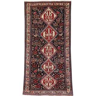 Antique Persian Mahal Amulet Patterned Rug with Traditional Style For Sale