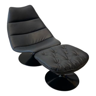 Artifort Lounge Chair With Ottoman For Sale