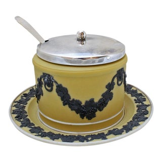 Wedgwood Jasperware Mustard or Jam Pot For Sale