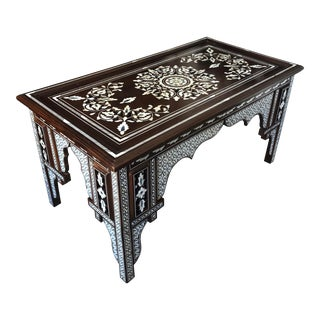Mother of Pearl Inlaid Rectangular Coffee Table For Sale