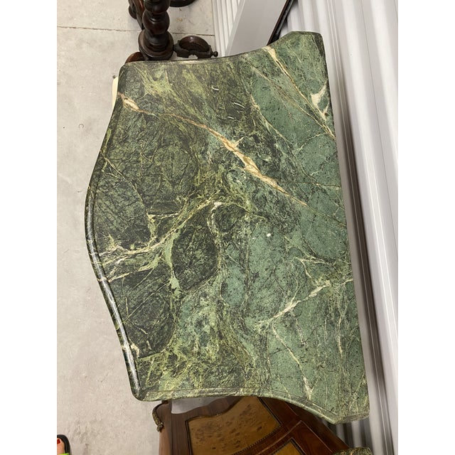 Vintage French Marble Top Nightstands - a Pair For Sale - Image 9 of 12