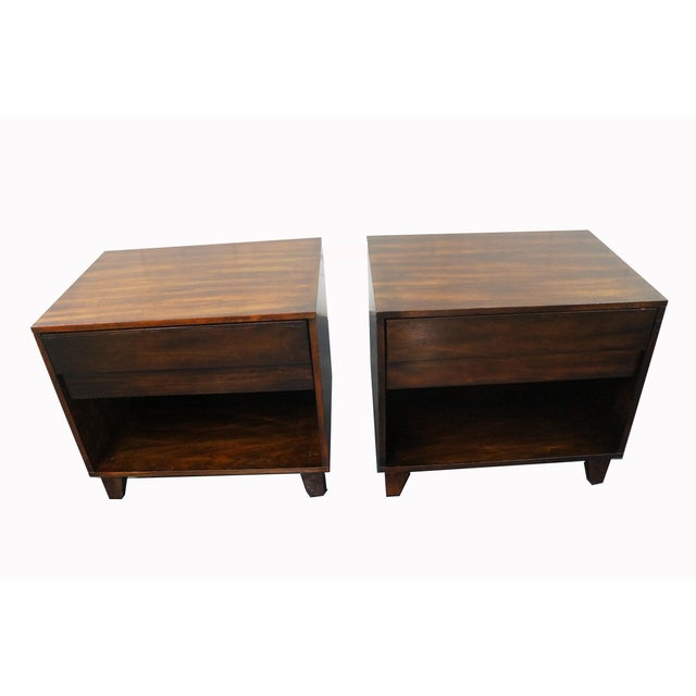 Mid-Century Modern Nightstands- A Pair - Image 2 of 9