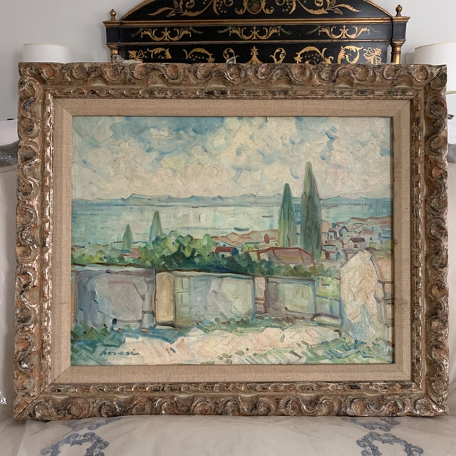 Oil Paint Antique Original Signed Impressionist Oil Painting For Sale - Image 7 of 10
