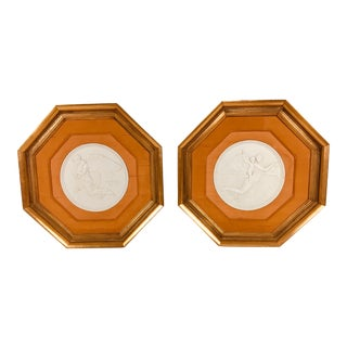 Royal Copenhagen Framed Medallions – a Pair
