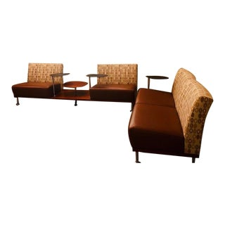 Modern Davis Furniture Modular Lounge With Swivel Tables For Sale