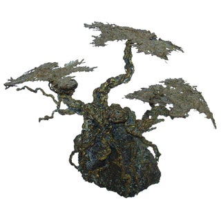 Brutalist Style Tree Sculpture in the Manner of Paul Evans For Sale