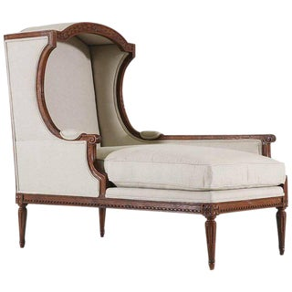 1920s Louis XVI Style Chaise With Canopy