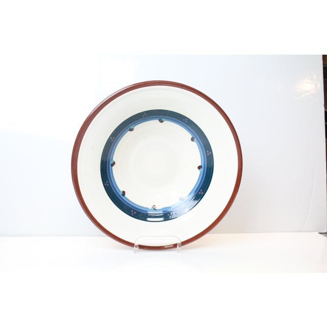 Blue Vintage Portland White Pottery Bowl For Sale - Image 8 of 8