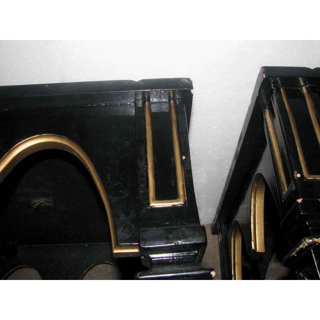 Gold Ebonized Gothic Style End Tables - A Pair For Sale - Image 8 of 10