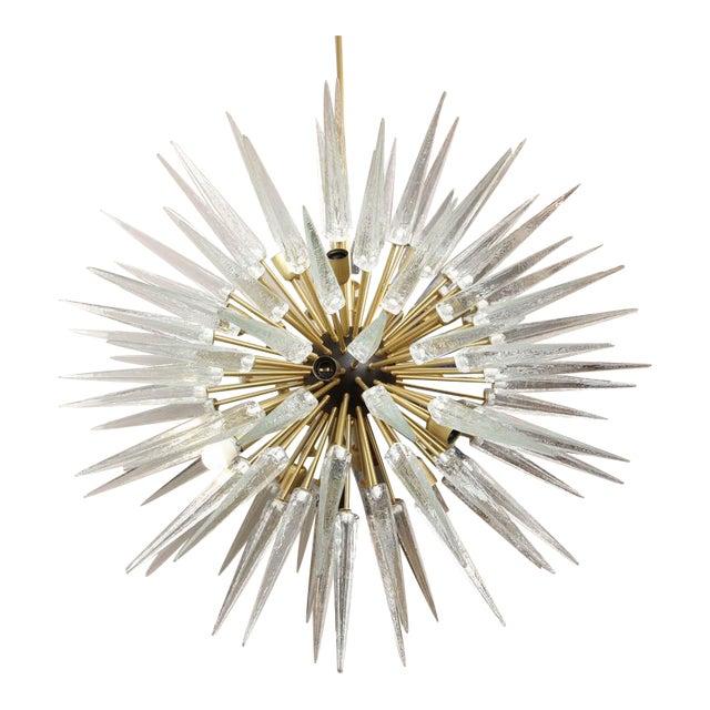 Stunning Murano Glass Spike Sputnik Chandelier For Sale