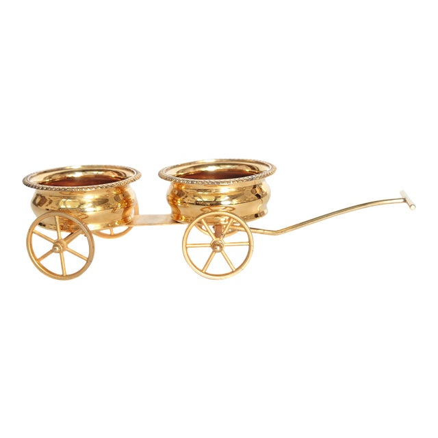 Gilt Bronze Wine Decanter Wagon Trolley For Sale