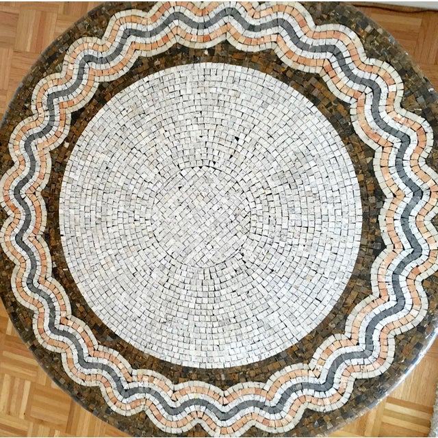 Iron Base Serpentine Mosaic Style Table Top - Image 2 of 2