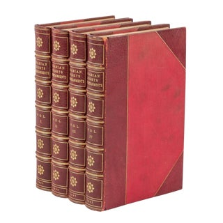 19th Century Antique Leather Books, j.c. Nimmo and Bain's 'Arabian Nights Entertainments' - Set of 4 For Sale