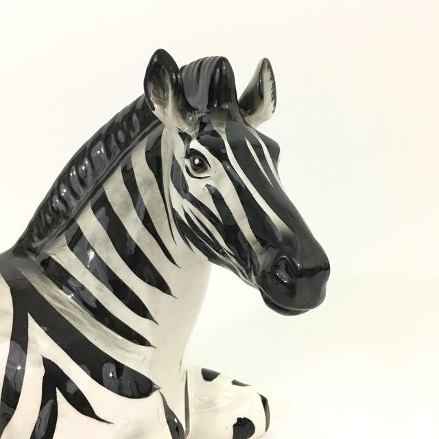 Zebra Ceramic Figure Statue For Sale In New York - Image 6 of 10