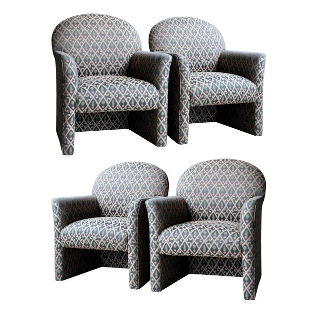 1980s Contemporary Armchairs, Set of 4 For Sale