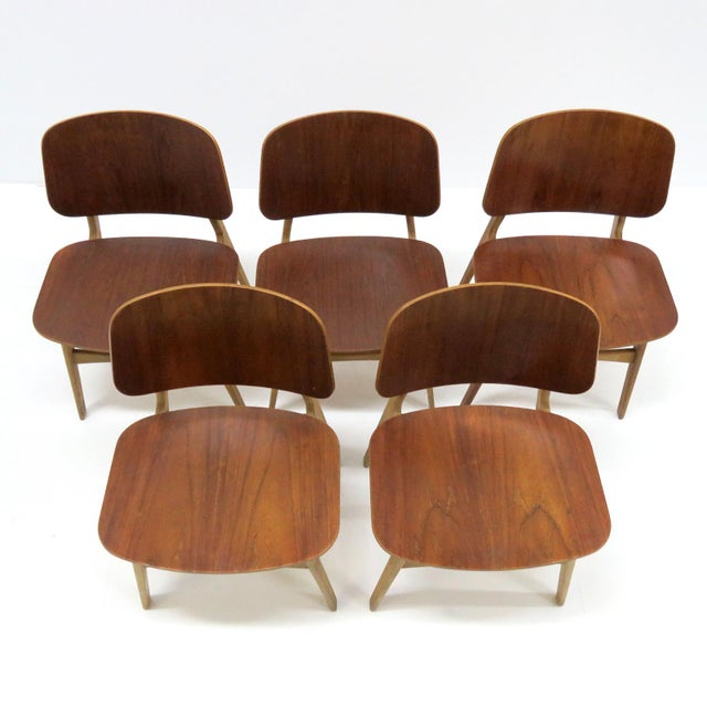 Set of 5 Børge Mogensen Dining Chairs, 1950s For Sale - Image 9 of 13