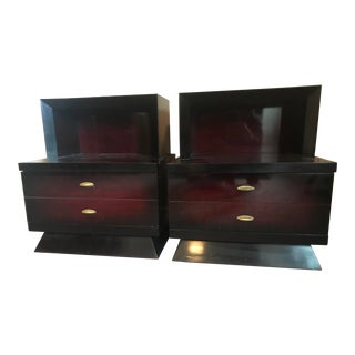 1950's Mahogany Nightstands-a Pair For Sale