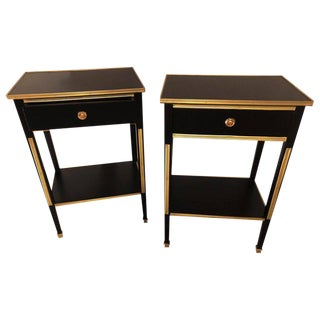 Russian Neoclassical or Hollywood Regency Style End Tables - A Pair