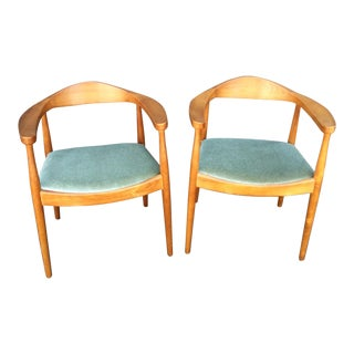 Mid-Century Side Chairs With Mohair Seats - a Pair For Sale